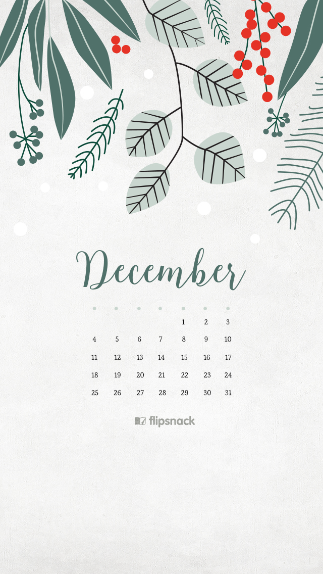December 2016 calendar backgrounds – desktop background