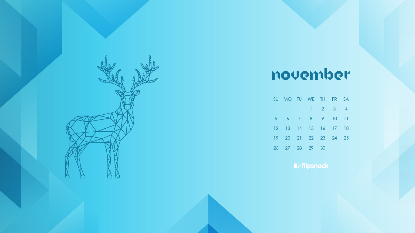 november 2017 calendar wallpaper