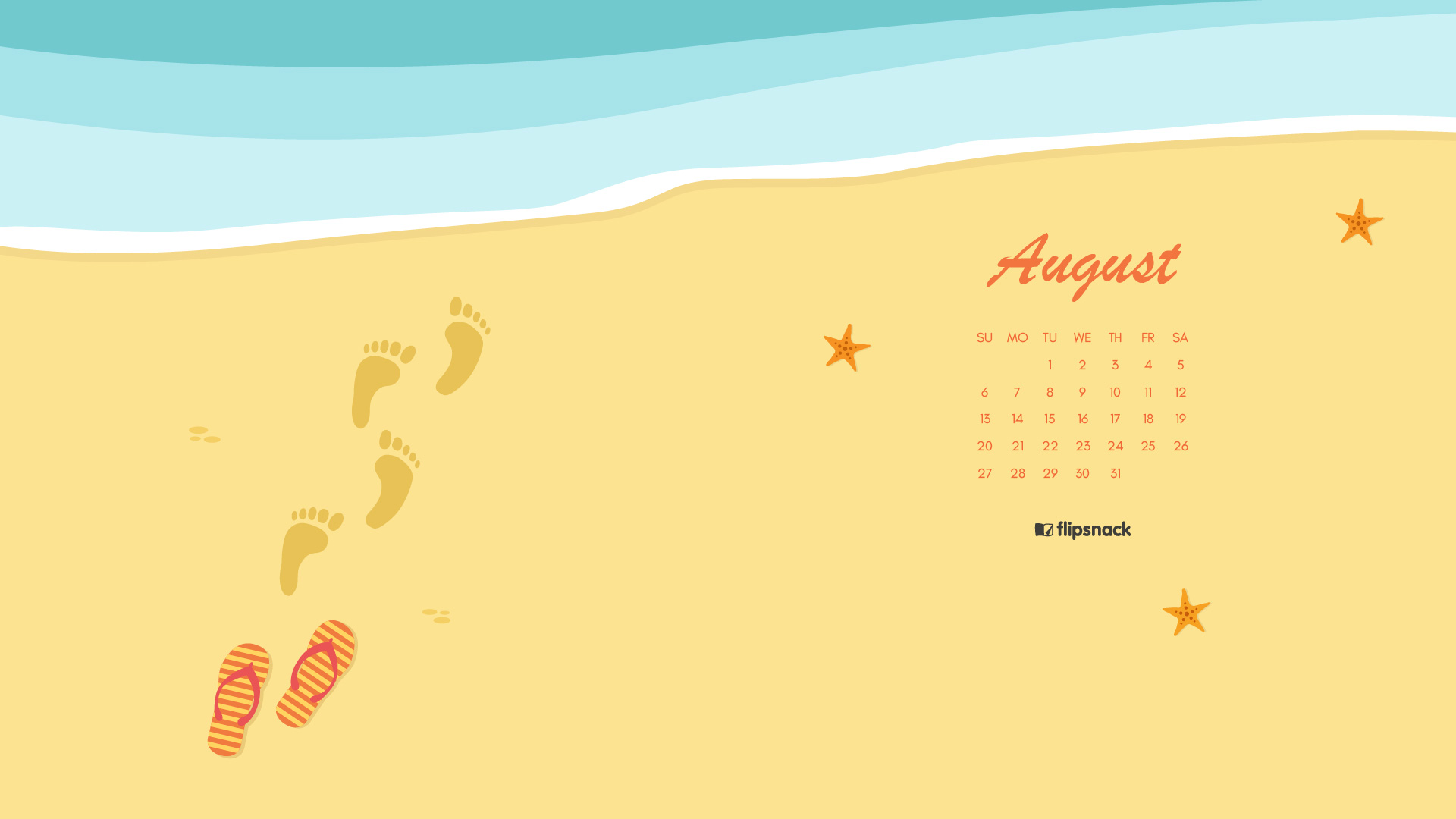 Calendar Wallpaper Pc : August calendar wallpaper for desktop background