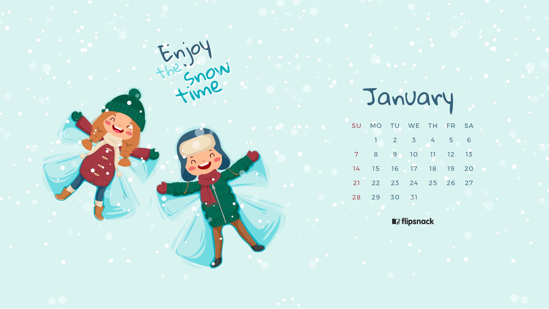 Desktop Calendar January 2018 : January calendar wallpaper for desktop background
